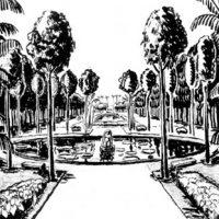 Praça de Casa Forte, Nanquim sobre papel, 1935 [Marx, Roberto Burle. Arte e Paisagem]